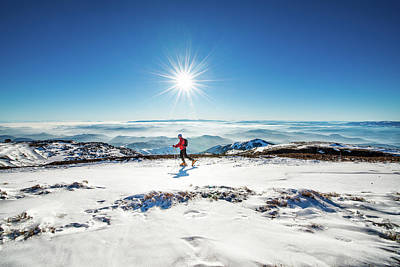 Ski Photograph - Nordic Walking by Extreme-photographer