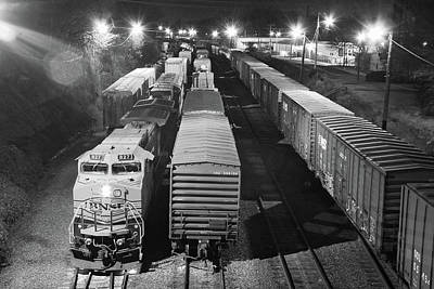 Photograph - Norfolk Southern 337 B W by Joseph C Hinson Photography