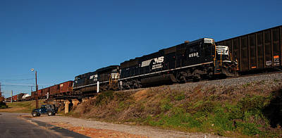 Photograph - Norfolk Southern In Columbia 2009 Pano by Joseph C Hinson Photography