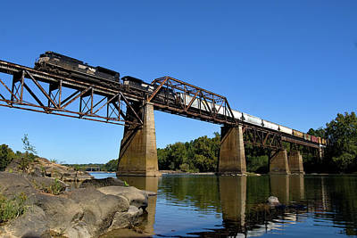 Photograph - Norfolk Southern Over The Congaree by Joseph C Hinson Photography