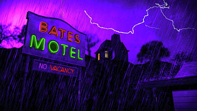 Photograph - Norman Bates - Bates Motel  by Doc Braham