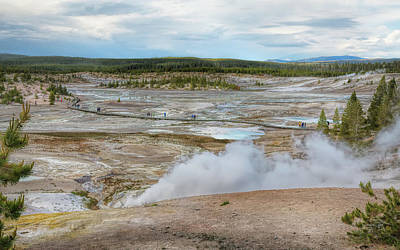 Photograph - Norris Geyser Basin Yellowstone by John M Bailey