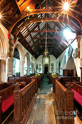 Photograph - North Aisle And Choir St Mylor by Terri Waters
