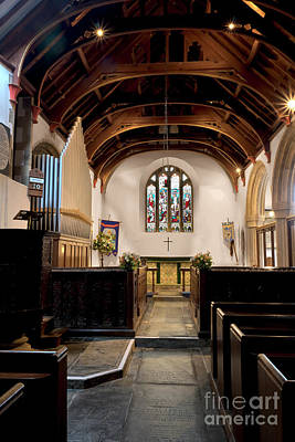 Photograph - North Aisle St Mylor Organ And Sanctuary by Terri Waters