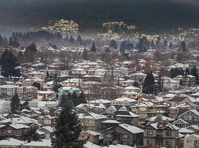 Photograph - North Burnaby Houses by Juan Contreras