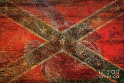 Digital Art - North Carolina Confederate Flag Gettysburg by Randy Steele