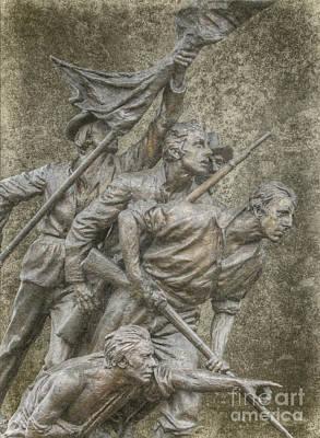 Digital Art - North Carolina Monument Gettysburg Pennsylvania by Randy Steele