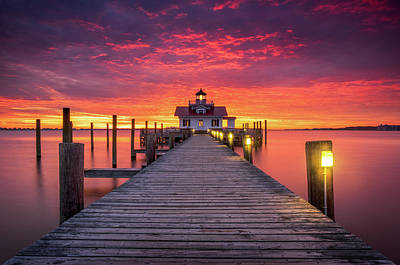 Photograph - North Carolina Outer Banks Manteo Lighthouse Obx Nc by Dave Allen