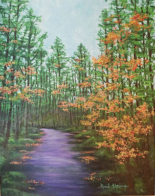 Wall Art - Painting - North Carolina State Forest by Raul Alsina
