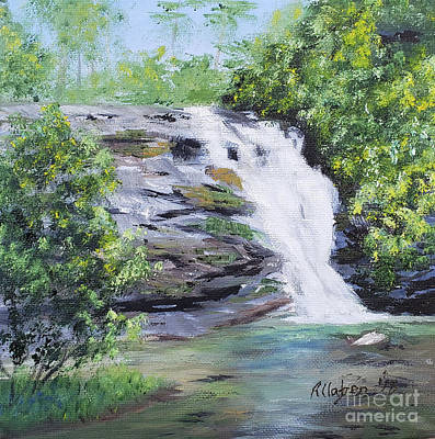Painting - North Carolina Waterfall by Stanton Allaben