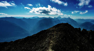 Mountain Royalty-Free and Rights-Managed Images - North Cascades Rocky Hill by Pelo Blanco Photo