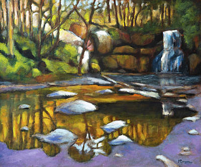 Painting - North Falls At Silver Falls Sp by Mike Bergen