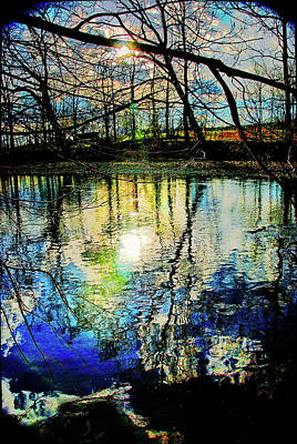 Photograph - North Fork, Shenandoah River At Sunset by Bill Jonscher