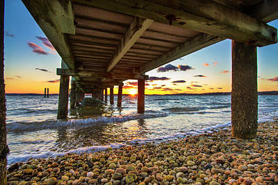 Photograph - North Fork Sunset Under The Dock by Robert Seifert
