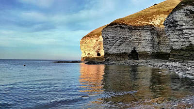 Photograph - North Landing, Flamborough Head - Yorkshire In February by Chris Gill