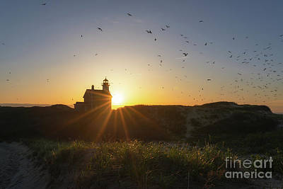 Photograph - North Lighthouse Silhouette by Michael Ver Sprill