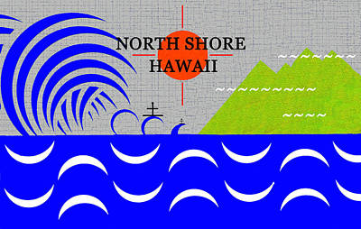 Royalty-Free and Rights-Managed Images - North Shore Hawaii surfing art by David Lee Thompson