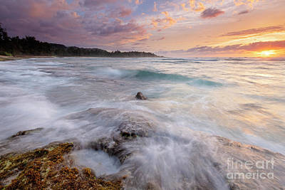 Photograph - North Shore Sunset Surge by Mike Dawson