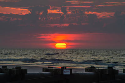 Photograph - North Wildwood - Big Red Sunrise by Bill Cannon