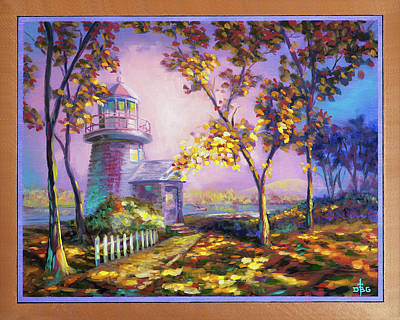 Painting - Northeast Autumn Sentinel by David Bader