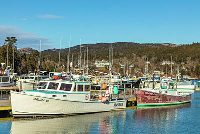 Photograph - Northeast Harbor Lobster Boats by Stefan Mazzola