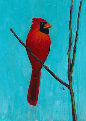 Painting - Northern Cardinal by Mary Elizabeth Thompson