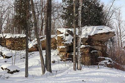 Photograph - Northern Door Rock Formation by David T Wilkinson