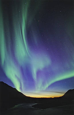 Photograph - Northern Lights Aurora Borealis by John E Marriott