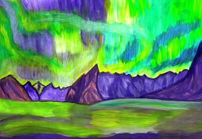 Painting - Aurora Borealis by Irina Dobrotsvet