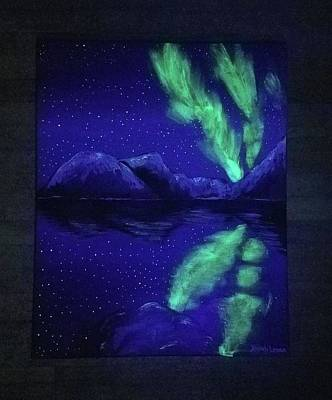 Painting - Northern Lights Original  by Jennah Lenae