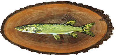 Painting - Northern Pike by Phil Chadwick