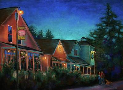 Lynee Sapere Wall Art - Painting - Northwest Evening - La Conner by Lynee Sapere