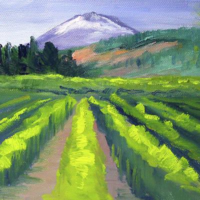 Painting - Northwest Mountain by Nancy Merkle