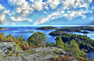 Photograph - Norway Coastal Scene by Anthony Dezenzio