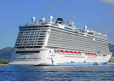 Photograph - Norwegian Bliss Mega Ship by Emmy Marie Vickers