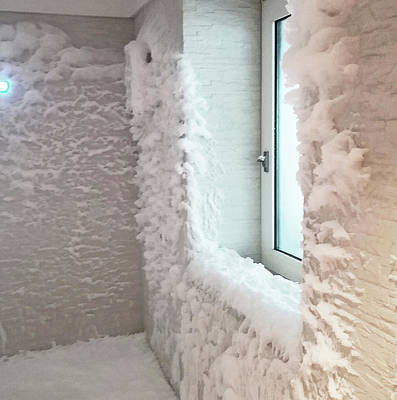 Photograph - Norwegian Bliss Spa Snow Room by Emmy Maria Vickers