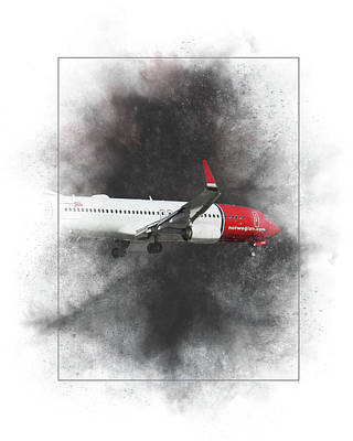 Mixed Media - Norwegian Boeing 737-8jp Painting by Smart Aviation