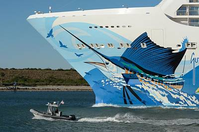 Photograph - Norwegian Escape Bow by Bradford Martin
