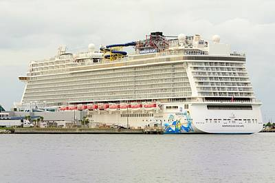 Photograph - Norwegian Escape In Port by Bradford Martin