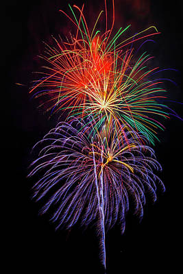 Photograph - Nostalgic Fireworks by Garry Gay