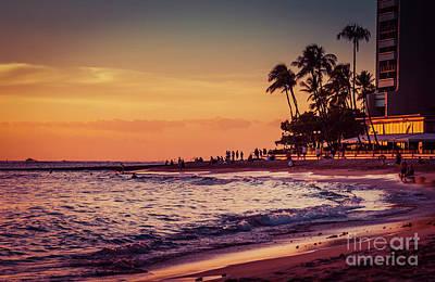 Nostalgic Romantic Sunset In Hawaii 0015 Original
