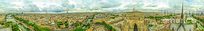 Photograph - Notre Dame Aerial View by Benny Marty