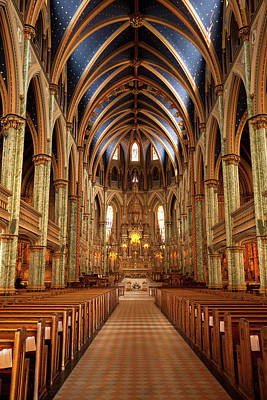 Symmetry Photograph - Notre Dame Cathedral Ottawa by Pgiam