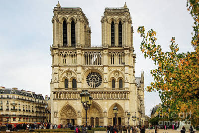 Photograph - Notre Dame Cathedral Paris France by Wayne Moran