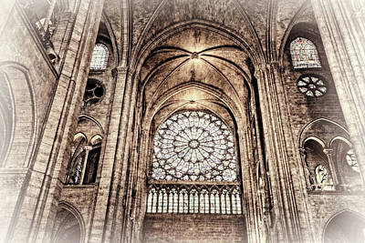 Photograph - Notre Dame Cathedral Toned by Kay Brewer