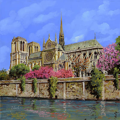 Aretha Franklin - Notre Dame in primavera by Guido Borelli