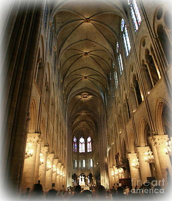 Photograph - Notre Dame Interior Paris  by Chuck Kuhn