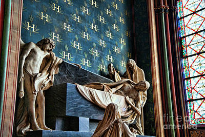 Photograph - Notre Dame Interior Statues Architecture  by Chuck Kuhn