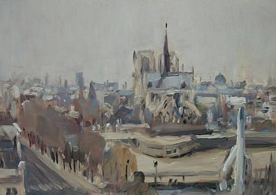 Painting - Notre Dame Of Paris Winter IIi by Nop Briex