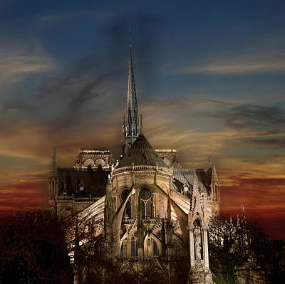 Photograph - Notre Dame Paris by Evie Carrier